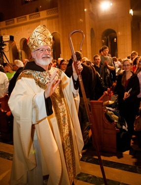 Cardinal Sean P. OMalley serves as principle celebrant and homilist at the Opening Mass of the National Prayer Vigil for Life at the Basilica of the Shrine of the Immaculate Conception, Jan. 24, 2013.&#10;Pilot photo/ Gregory L. Tracy&#10;