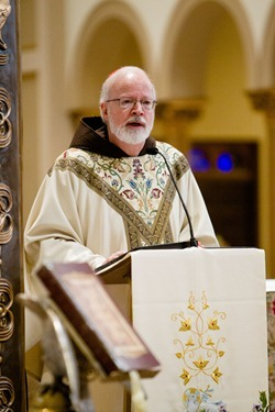 Cardinal Sean P. OMalley celebrates Mass for pro-life leaders at the Franciscan Monastery in Washington D.C. Jan. 24, 2013. &#10;Pilot photo/ Gregory L. Tracy