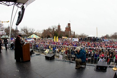 Cardinal O'Malley addresses the rally before the March for Life on the National Mall in Washington D.C. Jan. 25, 2013. 