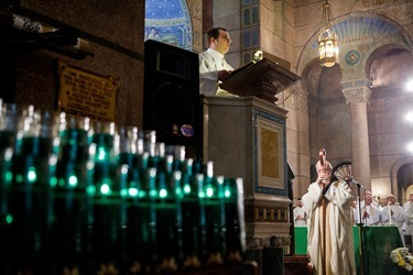 Cardinal Sean P. OMalley celebrates Mass for Boston pro-life pilgrims the morning of the March for Life at the Shrine of the Sacred Heart in Washington D.C. Jan. 25, 2013. Pilot photo/ Gregory L. Tracy