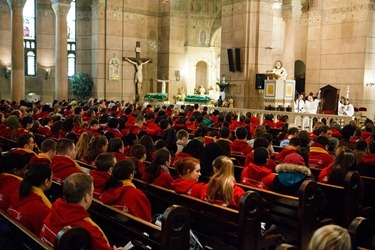 Cardinal Sean P. O'Malley celebrates Mass for Boston pro-life pilgrims the morning of the March for Life at the Shrine of the Sacred Heart in Washington D.C. Jan. 25, 2013. Pilot photo/ Gregory L. Tracy