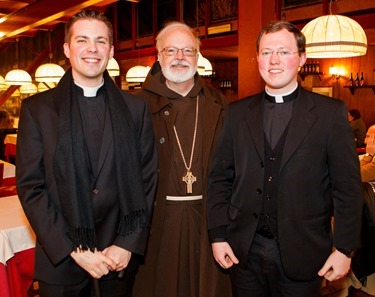 Seminarians Deacon Thomas MacDonald and Kevin Joyce are pictured with Cardinal O'Malley, March 1, 2013. Photo by Gregory L. Tracy/ The Pilot