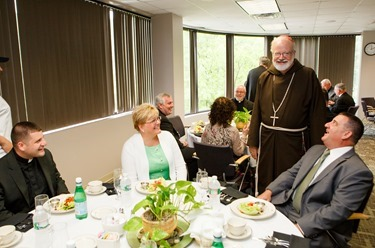 Luncheon with the newly ordained priests and their families at the archdiocese's Pastoral Center, May 29, 2013.