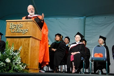 Regis College commencement, May 11, 2013. 