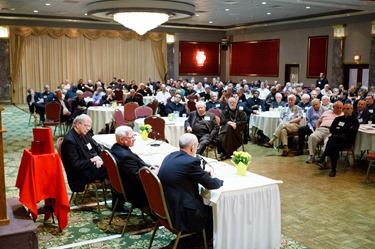 Archdiocese of Boston priest convocation held at the Lantana in Randolph June 6, 2013. The day's keynote speaker was Archbishop Salvatore Rino Fisichella, president of the Pontifical Council for the Promotion of the New Evangelization.