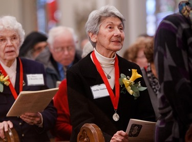 The 2013 Cheverus Awards are presented at an afternoon Vespers Service, Nov. 24, 2013 at the Cathedral of the Holy Cross.  Each year about 100 laypeople, deacons and religious are recognized with the award for their long-term service to the Church. Pilot photo/ Gregory L. Tracy