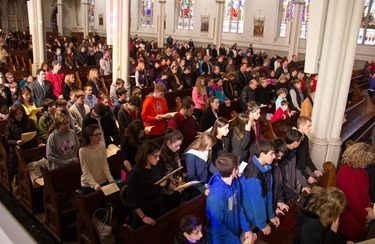 Mass to close the Year of Faith, Nov. 24, 2013 at the Cathedral of the Holy Cross. Pilot photo/ Christopher S. Pineo
