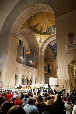 Cardinal O'Malley celebrates the Vigil Mass for Life at the Basilica Shrine of the Immaculate Conception in Washington, D.C. Jan. 21, 2014. The Mass held the night before the March for Life was attended by an estimated 10,000 people. Pilot photo by Gregory L. Tracy