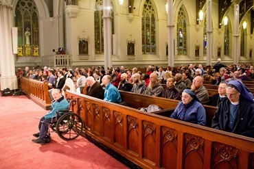 Holy Thursday Mass of the Lord's Supper celebrated at the Cathedral of the Holy Cross April 17, 2014. Pilot photo/ Christopher S. Pineo