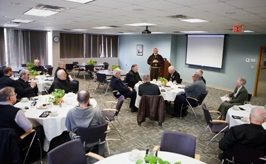 Meeting of major superiors of men's religious orders in the Archdiocese of Boston, May 8, 2014. Pilot photo/ Gregory L. Tracy