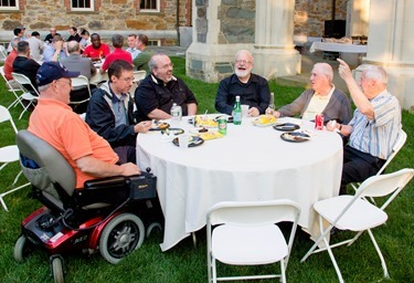 Annual Vianney gathering at St. John's Seminary, Aug. 7, 2014. Pilot photo/ Christopher S. Pineo