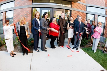 Dedication ceremony and ribbon cutting for the 135 Lafayette Street development in Salem, Mass. Sept. 27, 2014.<br /> Photo by Gregory L. Tracy<br />