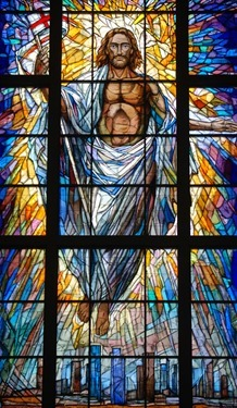 STAINED-GLASS WINDOW IN NEW HOUSTON CO-CATHEDRAL