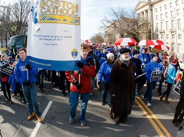 Cardinal Sean P. O'Malley participates in the annual March for Life in Washington, D.C. Jan. 22, 2015.
