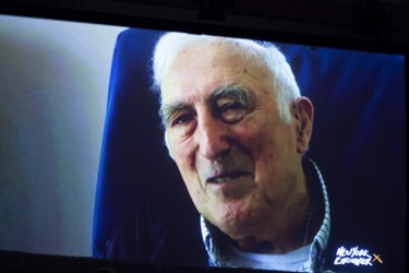 "Jean Vanier, Founder of L'Arche Communities via telecast at New York Encounter 2015, speaking on ""Identity and the Challenge of Disability."""