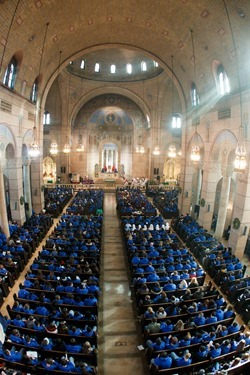 Cardinal Sean O'Malley celebrates Mass with the Boston groups in Washington, D.C. for the March for Life at the Shrine of the Sacred Heart Jan. 22, 2015.