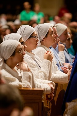 Vigil Mass for Life at the Basilica of the National Shrine of the Immaculate Conception Jan. 21, 2015. Pilot photo/ Gregory L. Tracy