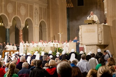 Vigil Mass for Life at the Basilica of the National Shrine of the Immaculate Conception Jan. 21, 2015.