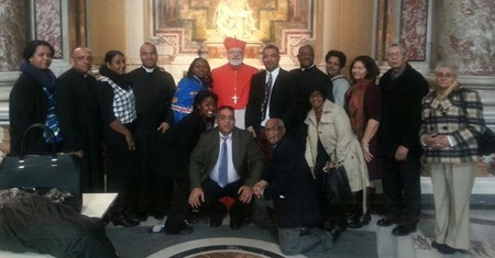Cardinal Sean with Folks from St Edith Stein II