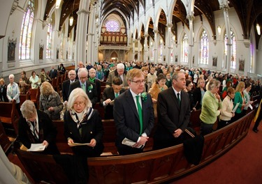 St. Patrick's Day Mass celebrated at the Cathedral of the Holy Cross March 17, 2015 by Bishop Robert Hennessey.&lt;br /&gt;<br /> Pilot photo/ Gregory L. Tracy&lt;br /&gt;<br />