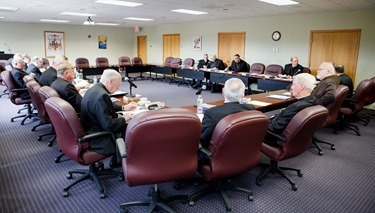 Meeting of Bishops of the Boston Province April 29, 2015.<br /> Pilot photo by Gregory L. Tracy<br />