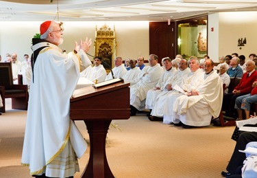 Mass for priest and brothers celebrating silver jubilees, June 24, 2015. Pilot photo/ Gregory L. Tracy
