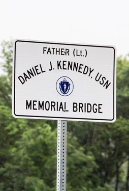 Father Daniel Kennedy memorial bridge dedication in Needham, Mass., June 15, 2015.<br /> Pilot photo/ Christopher S. Pineo<br />