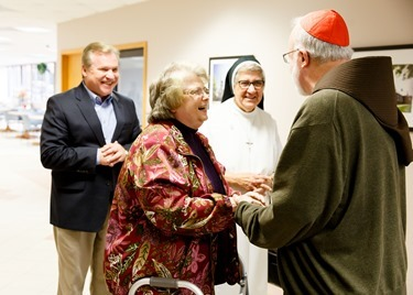 Betania Choir visits Cardinal O'Malley at the Pastoral Center in Braintree, Oct 21, 2015. (Pilot photo/ Gregory L. Tracy)