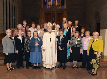 Cardinal Sean O'Malley celebrates Mass at St. Theresa Church West Roxbury Oct. 4, 2015 for Women Religious in the Archdiocese of Boston celebrating their jubilees of religious life. Pilot photo/ Lisa Poole