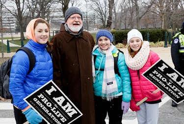 Cardinal O'Malley takes part in the 43rd annual March for Life Jan. 22, 2016 in Washington, D.C. Pilot photo/ Gregory L. Tracy
