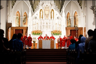 Pentecost Vigil at the Cathedral of the Holy Cross May 14, 2016. 