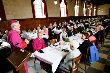 Luncheon reception for Archbishop Paul Russell at St. John's Seminary June 3, 2016. Pilot photo by Gregory L. Tracy