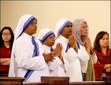 Cardinal Sean P. O'Malley celebrates a Mass to mark the canonization of Mother Teresa at the newly renamed St. Teresa of Calcutta Parish in Dorchester Sept. 4, 2016. Pilot photo/ Mark Labbe