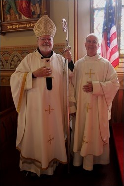 Cardinal O'Malley and Fr. Richard Cannon, pastor
