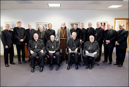 Bishops of the Boston Province (Mass., Maine, Vt. and N.H.) meet at the Archdiocese of Boston Pastoral Center, Oct. 5, 2016. (Photo By Gregory L. Tracy, The Pilot)