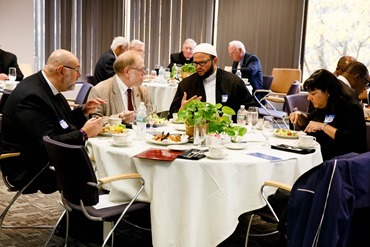 Interfaith leaders meet at the Archdiocese of Boston's Pastoral Center in Braintree Oct. 18, 2016 to discuss their response in opposition to Massachusetts ballot question 4, which would legalize the recreational use of marijuana. Photo by Gregory L. Tracy, The Pilot