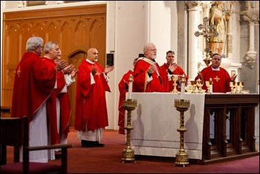Cardinal O'Malley celebrates the annual Red Mass for members of the legal profession Oct. 30, 2016 at the Cathedral of the Holy Cross. Pilot photo/ Gregory L. Tracy