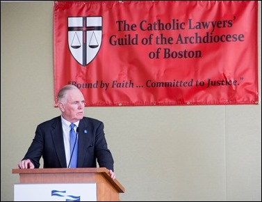 The Catholic Lawyers Guild of the Archdiocese of Boston Red Mass Luncheon featuring keynote speaker Ambassador Raymond Flynn, Oct. 30, 2016. Pilot photo/ Mark Labbe