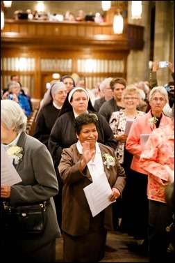 Mass for Women Religious Jubilarians at St. Theresa Parish, West Roxbury, Oct. 30, 2016. Pilot photo/ Gregory L. Tracy
