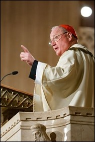 New York Cardinal Timothy Dolan delivers his homily at the Vigil Mass for Life, held Jan. 26 at the Basilica of the National Shrine of the Immaculate Conception in Washington, D.C. Pilot photo/ Gregory L. Tracy