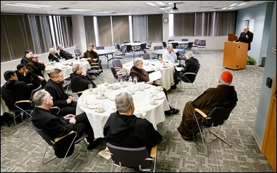 Cardinal O'Malley meets with superiors of men's religious communities in the Archdiocese of Boston, March 29, 2017. Pilot photo/ Gregory L. Tracy