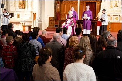 Rite of Election and Call to Continuing Conversion at celebrated the Cathedral of the Holy Cross, March 5, 2017. Pilot photo/ Mark Labbe