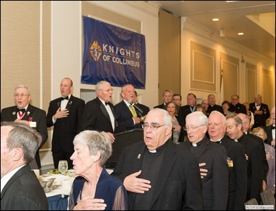 Mass. State Council Knights of Columbus Patriot's Day Dinner and Lantern Award presentation, April 17, 2017 at Sheraton Framingham Hotel. The 2017 Lantern Award recipient was James T. Brett. Photo by Lew Corcoran, Mass. State Council KofC