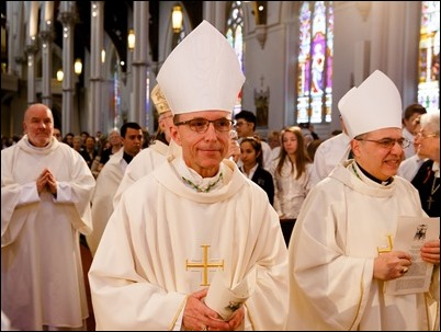 Cardinal Sean P. O'Malley celebrates the annual Chrism Mass at the Cathedral of the Holy Cross April 11, 2017. Pilot photo/ Gregory L. Tracy