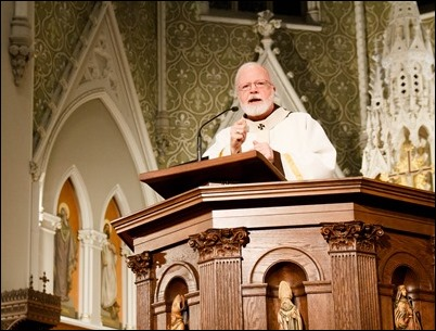Cardinal O'Malley celebrates the Mass of the Last Supper, Holy Thursday April 13, 2017 at the Cathedral of the Holy Cross. Pilot photo/ Mark Labbe