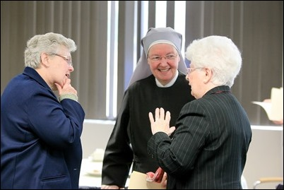 Meeting with superiors of women's religious communities in the Archdiocese of Boston, April 5, 2017. Pilot photo/ Gregory L. Tracy