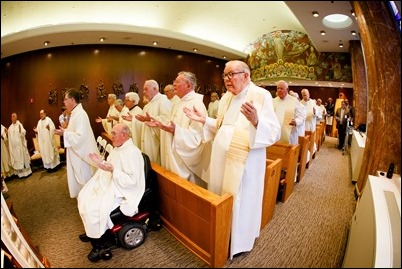 Mass for priests celebrating 50 years of ordination at the archdiocese's Regina Cleri residence May 9, 2017. Pilot photo/ Gregory L. Tracy