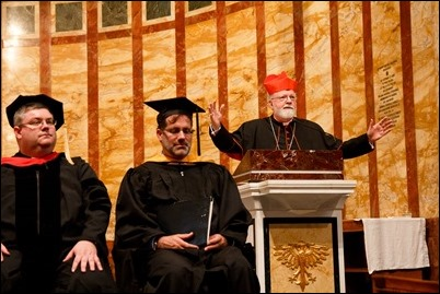 Commencement of the Theological Institute for the New Evangelization of St. John's Seminary May 23, 2017. Pilot photo/ Mark Labbe