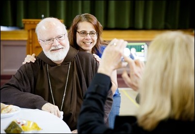 Cardinal O'Malley celebrates Mass at St. Edith Stein Church in Brockton to mark the 10th anniversary of Trinity Catholic Academy. Pilot photo/ Gregory L. Tracy