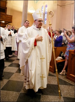 Ordination of transitional deacons for the Archdiocese of Boston, celebrated June 10, 2017 at Holy Name Church, West Roxbury by Bishop Peter J. Uglietto. Pilot photo/ Gregory L. Tracy